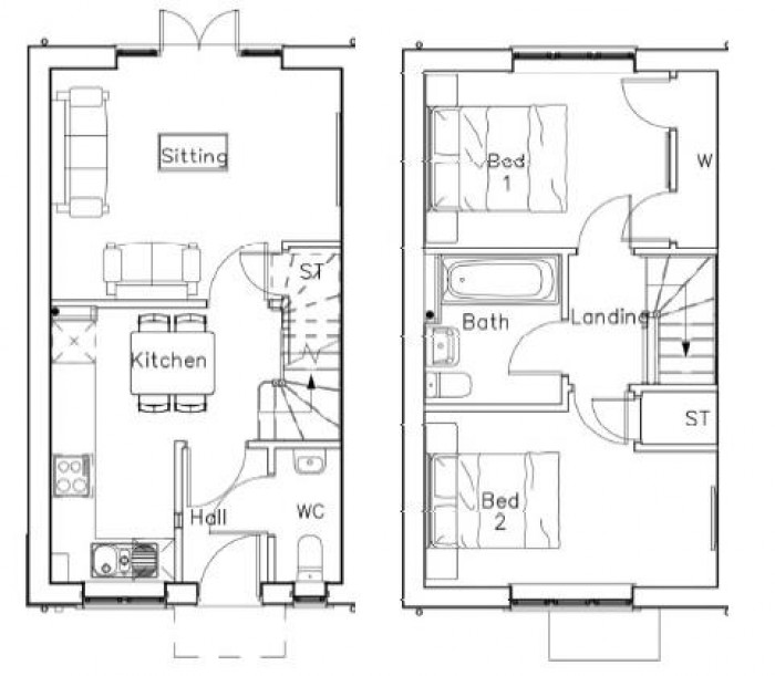 Floorplan for Burrow Hill Park, Burton Green, Kenilworth