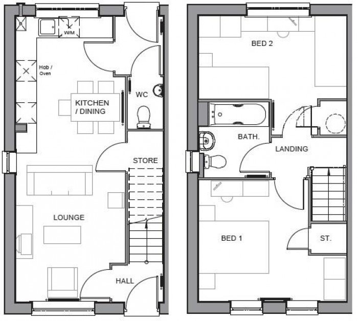 Floorplan for Spinning Wheel Drive, Eastboro Way, Nuneaton