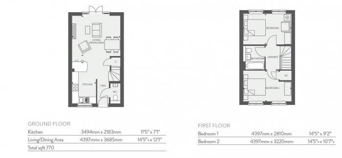 Floorplan for Hansford Park, Houlton, Rugby