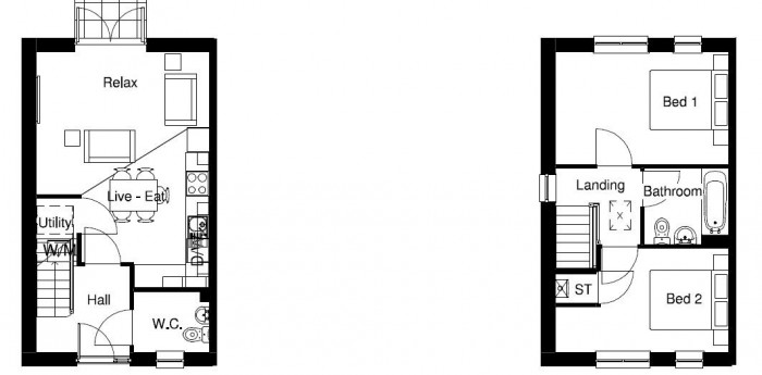 Floorplan for Purbeck Village, Myton Green, Warwick